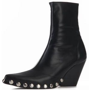 Jeffrey Campbell Black Patent Walton Western Boot